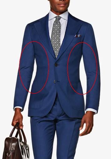 Illustration of suit jacket torso