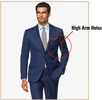 Illustration of suit arm holes