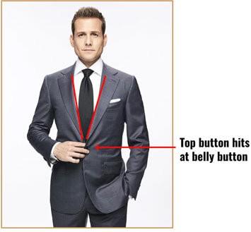 Illustration of suit button