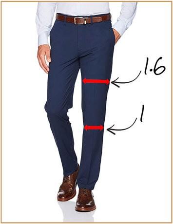 Illustration of suit pants leg