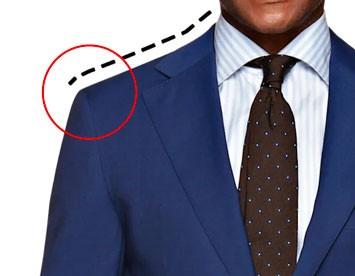 Illustration of suit jacket shoulders