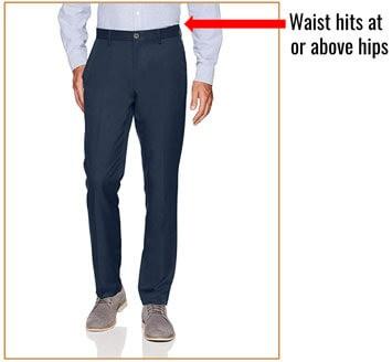 Illustration of suit pants waist