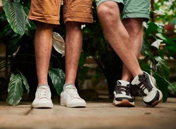 Two men wearing sneakers