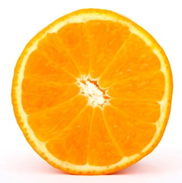 A sliced orange