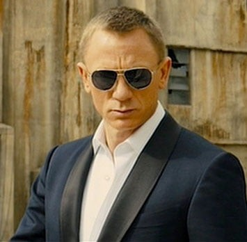 Daniel Craig wearing Tom Ford Sunglasses in Skyfall