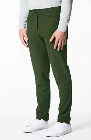 Men's green slim fit pants