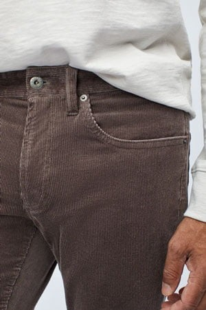 Thin waled corduroy pants