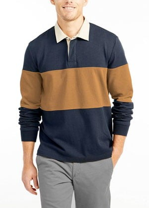 L.L. Bean men's rugby shirt