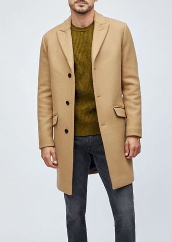 Camel men's topcoat