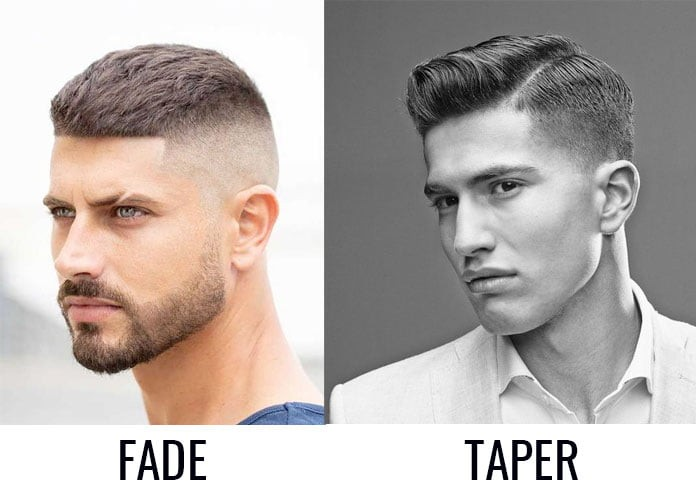 difference between a fade and taper haircut