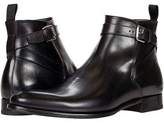 Taft black leather Jodhpur boots