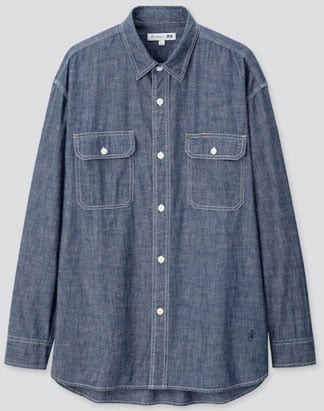 Uniqlo men's chambray shirt