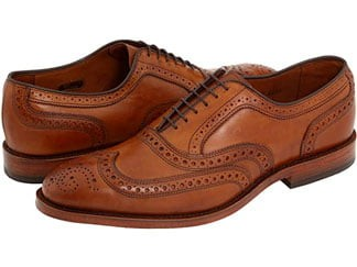 Allen Edmonds brown wingtip shoes