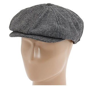 Grey newsboy cap