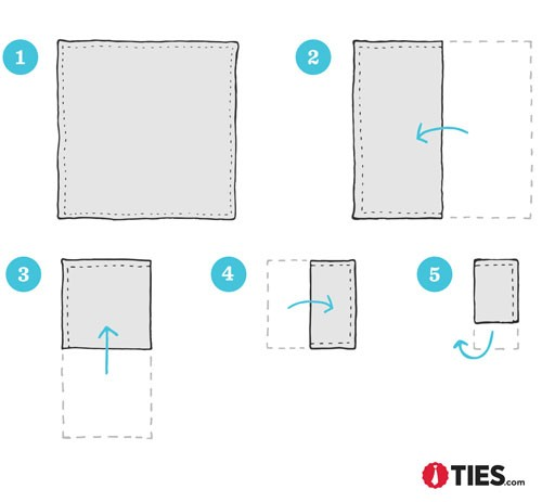 How to Fold a Loose Square Pocket Square Instructions