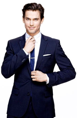 Neal Caffrey wearing a pocket square