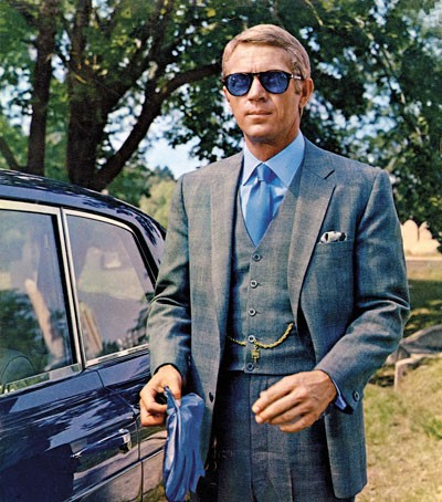 Steve McQueen in a three piece suit from The Thomas Crown Affair