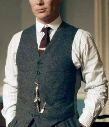 Tommy Shelby from Peaky Blinders wearing a pocket watch