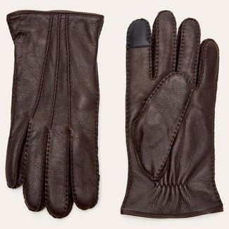 Frye brown leather gloves