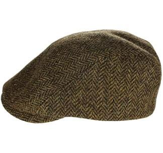 Brown newsboy cap