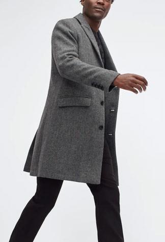 Grey bonobos top coat