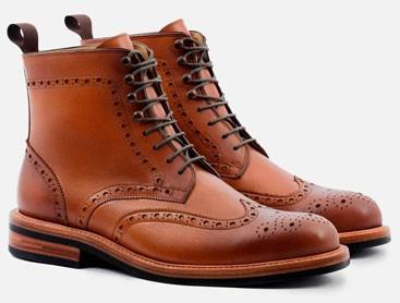 Beckett Simonon leather wingtip boots