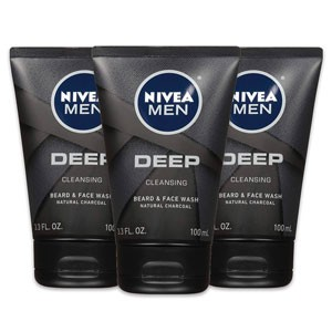 NIVEA Men DEEP Cleansing Beard & Face Wash