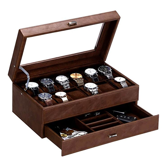 Bewishome watch box for men