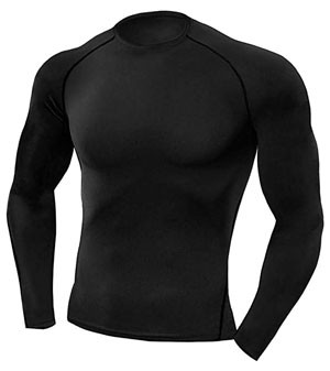 Copper Compression Long Sleeve Men's Recovery Shirt