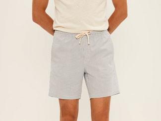 Frank and Oak seersucker shorts