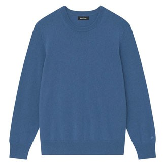 The Naadam Cashmere Essential Sweater in Blue Horizon