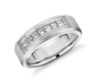 Princess-Cut Channel-Set Diamond Wedding Band