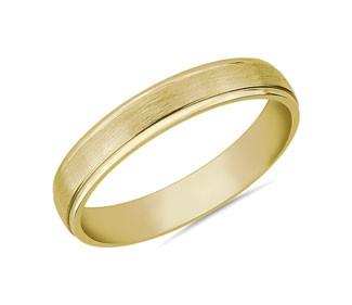 Step Edge Brushed Wedding Ring