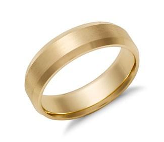 Beveled Edge Matte Wedding Ring