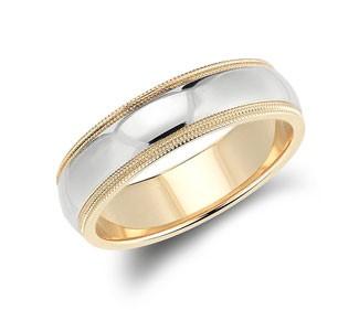 Double Milgrain Comfort Fit Wedding Ring
