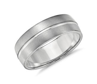 Single Rail Comfort Fit Wedding Ring