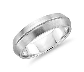 Monique Lhuillier Knife Edge Milgrain Wedding Ring