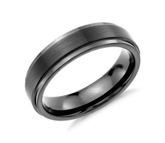 Brushed and Polished Comfort Fit Wedding Ring