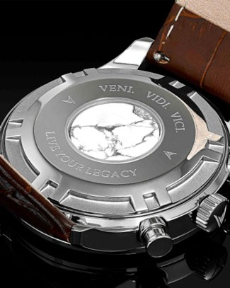 Back of the Vincero Chrono S watch case