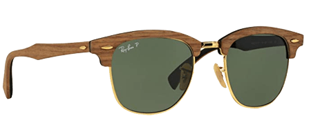 Ray-Ban Clubmaster Square Wood Sunglasses