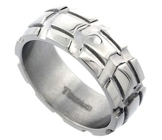 Titanium Wedding Band Truck Tire Ring