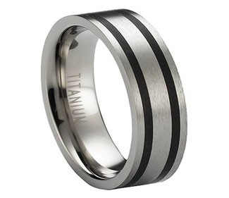 Satin Finished Titanium Wedding Ring