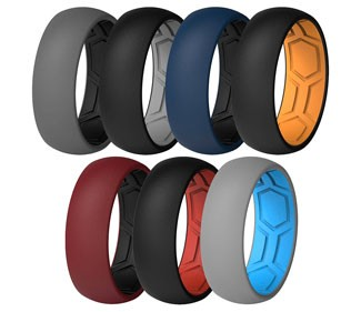 Breathable Air Grooves Silicone Wedding Rings