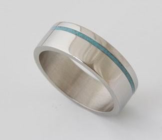 Turquoise Titanium Ring