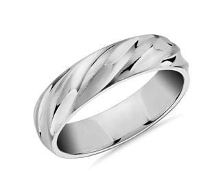 Matte & Polish Twist Wedding Ring