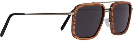Woodies Brushed Gun Metal Wood Sunglasses