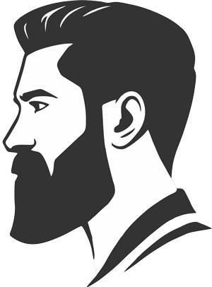 Illustration of man with full beard