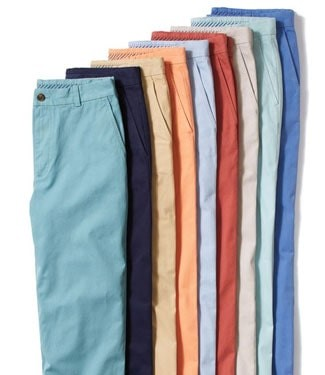 Colorful mens pants