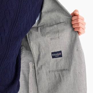 The inside of an unlined linen jacket