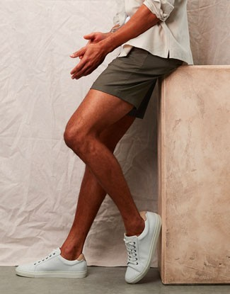 Man wearing summer shorts